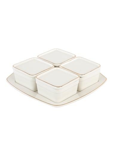 Bella Maison Allure 21 Parça 6 Kişilik Kahvaltı Seti Beyaz Beyaz